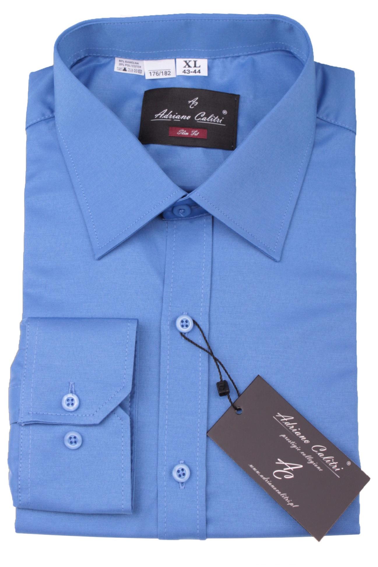5c6582e029e44b Koszula męska 506 SLIM FIT niebieska :: Sklep Adriano Calitri